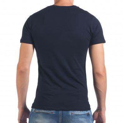 Мъжка синя тениска Seize the day il060616-29 3
