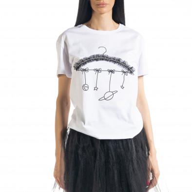 Дамска бяла тениска My Universe il080620-8 2