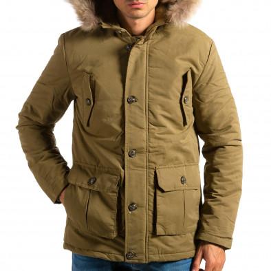 Мъжко зелено яке с големи джобове ca161014-8 4