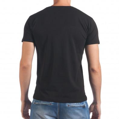 Мъжка черна тениска с Пабло Ескобар il060616-60 3