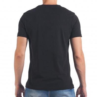 Мъжка черна тениска Just Do It Later il060616-10 3