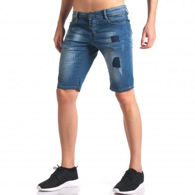 Мъжки къси дънкови панталони с джобове it250416-33 4