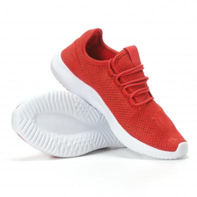 Мъжки червени маратонки олекотен модел it110817-72 4