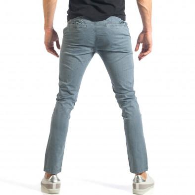 Мъжки син панталон с малки детайли по плата it290118-37 3