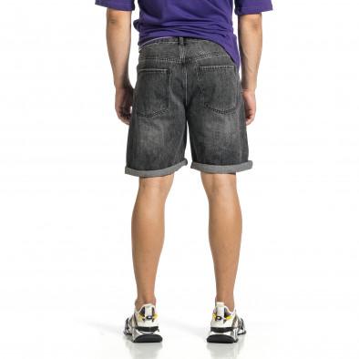 Loose fit мъжки сиви къси дънки it150521-36 3