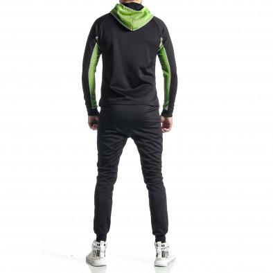 Мъжки черно-зелен анцуг Biker style it010221-58 6