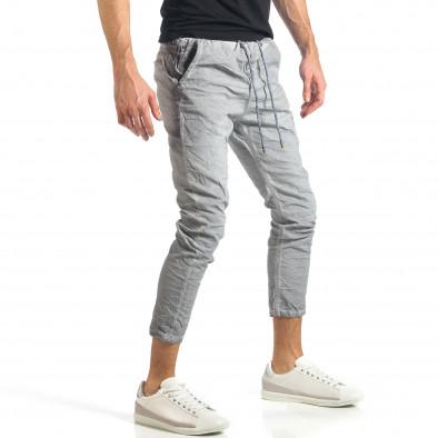 Мъжки сив лек панталон на малки точици it290118-4 3