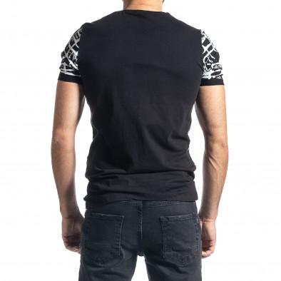 Мъжка тениска Raster черно и бяло tr010221-15 3