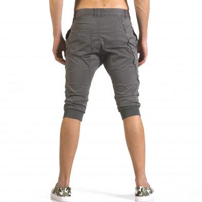 Мъжки сиви къси панталони тип потури it110316-51 3