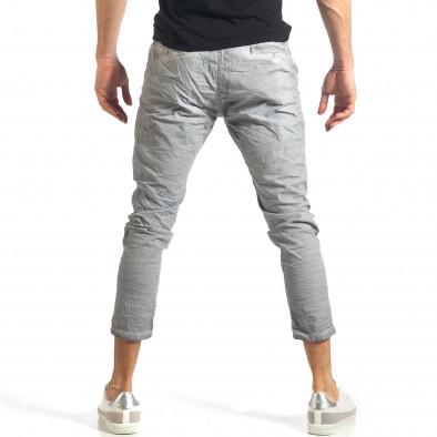 Мъжки сив лек панталон на малки точици it290118-4 4