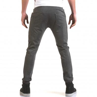 Мъжки светло сив панталон с италиански джобове it090216-28 3