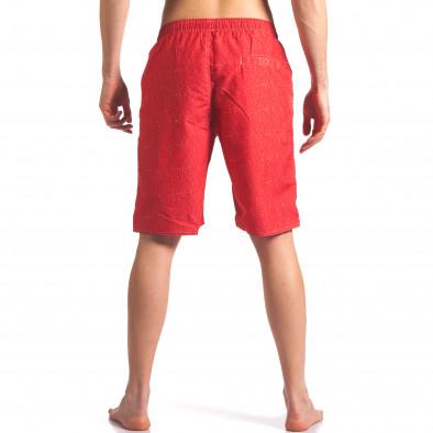 Мъжки червени бански с надпис it250416-46 3