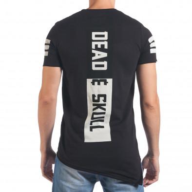 Мъжка черна тениска с голям череп отпред il060616-71 3
