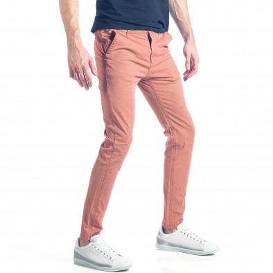 Мъжки розов панталон с малки детайли по плата it290118-35 4