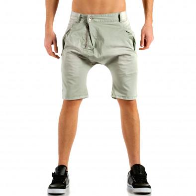 Мъжки сиви къси панталони тип потури ca300315-31 2