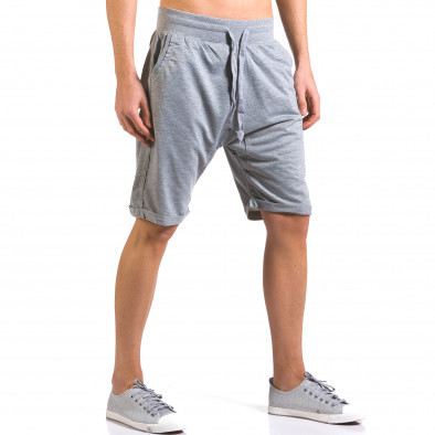 Мъжки сиви шорти класически модел Dress&GO 5