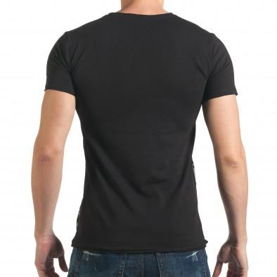 Мъжка черна тениска с 2 черепа il140416-12 3