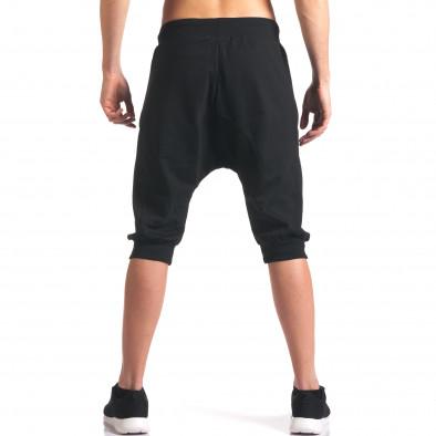 Черни мъжки къси потури с ципове на джобовете it260416-32 3