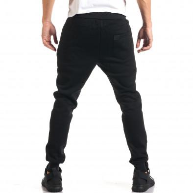 Мъжко черно долнище с ципове на джобовете it160916-26 3