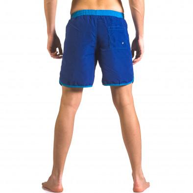 Мъжки сини бански тип шорти с удобни джобове ca050416-32 3