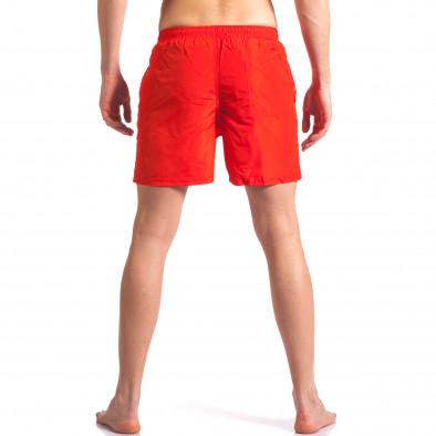 Мъжки червени бански с малка емблема Graceful 4