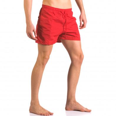 Мъжки червени бански шорти от бързосъхнеща материя ca050416-19 4