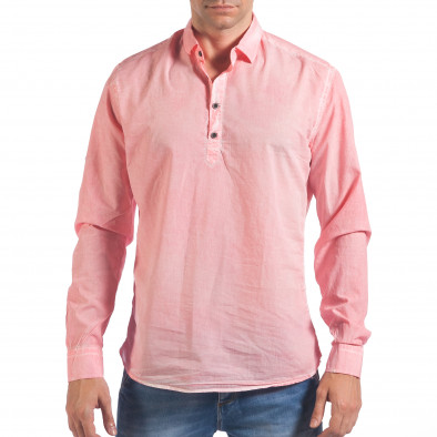 Мъжка розова риза със закопчаване до средата il060616-122 2