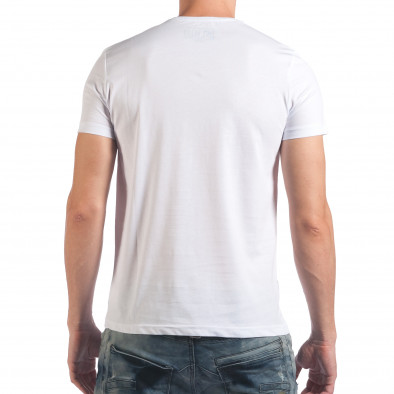 Мъжка бяла тениска с надпис Dark Black il060616-5 3