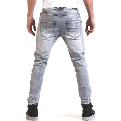 Мъжки сиви дънки с хоризонтали шевове Justing 5