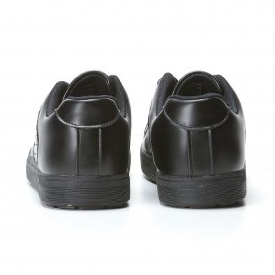 Мъжки черни кецове с допълнителни шевове it020617-7 5