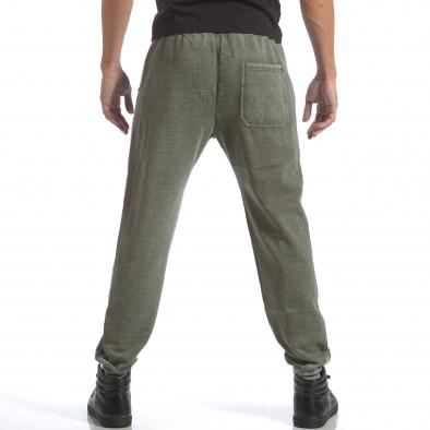 Мъжко зелено долнище с избелял ефект на плата it160817-118 3