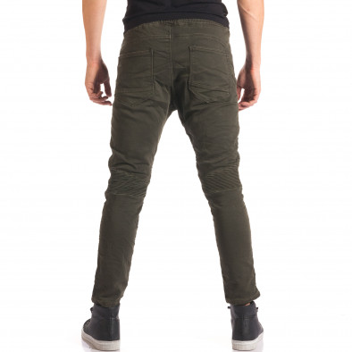 Мъжки зелен спортен панталон с допълнителни шевове it150816-10 3