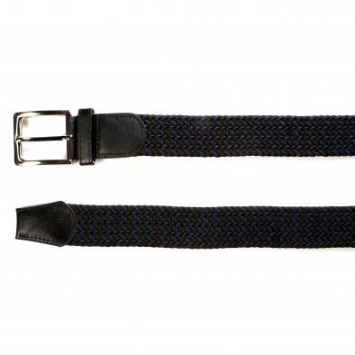 Мъжки синьо-черен плетен колан tsf141015-4 2