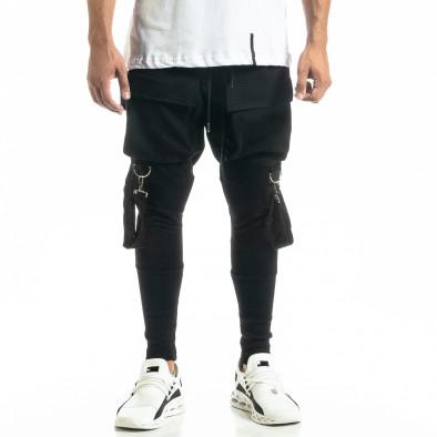 Трикотажен черен панталон Hip Hop Jogger tr020920-1 3
