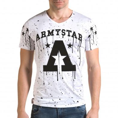 Мъжка бяла тениска Armystar il120216-40 2