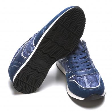 Мъжки маратонки син камуфлаж it090316-7 4