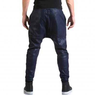Мъжки сини потури с ефект на змийска кожа it211015-59 3