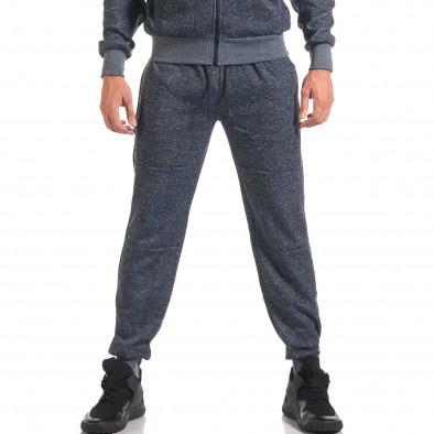 Мъжки син спортен комплект с ципове it160916-59 5