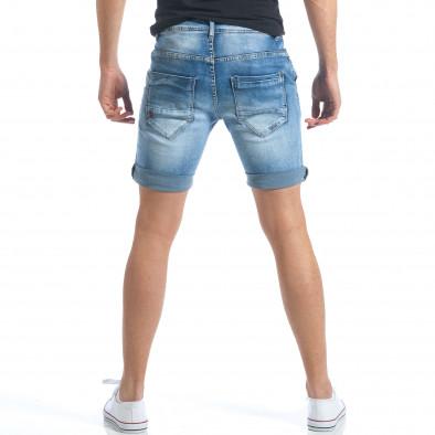 Мъжки къси дънки с италиански джобове it190417-58 3