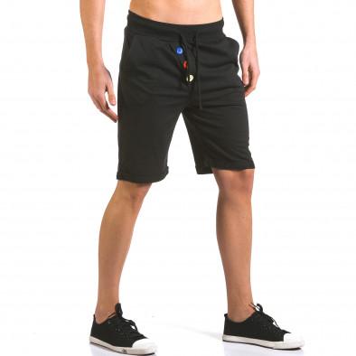 Мъжки черни шорти с разноцветни копчета Vestiti Delle Nuvole 5