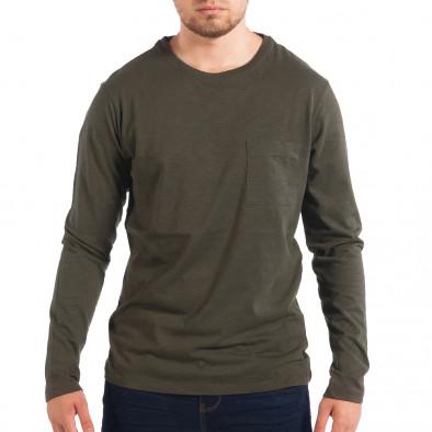Мъжка зелена блуза RESERVED с джоб lp070818-47 2