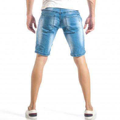 Мъжки леки къси дънки в синьо с кантове  it040518-78 4