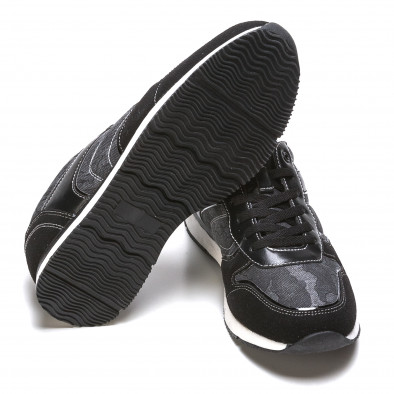 Мъжки маратонки черно-сив камуфлаж it090316-8 4