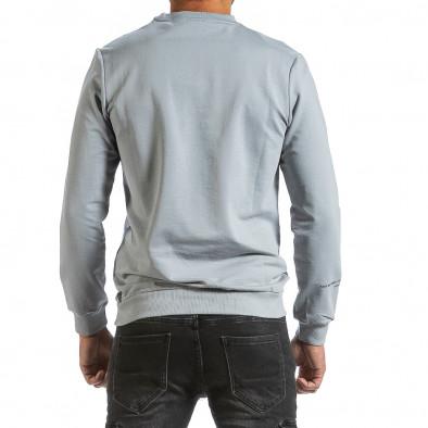 Мъжка сива блуза с релефен принт tr070921-42 3