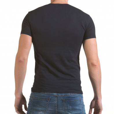 Мъжка синя тениска с принт индианец Click Bomb 4