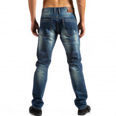 Мъжки дънки прав модел с декоративни скъсвания  ca171014-41 2