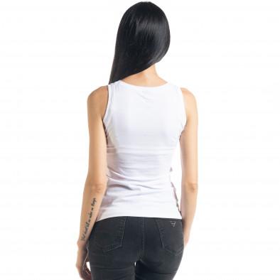 Бяла дамска тениска без ръкави il080620-9 4