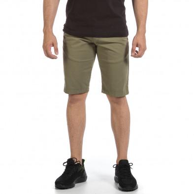 Мъжки зелени къси панталони & Big Size tr040621-27 3