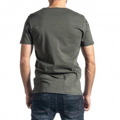 Мъжка зелена тениска Famous tr010221-3 3