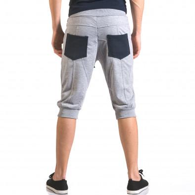 Мъжки сиви къси потури с контрастни джобове ca050416-34 3